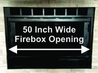"""50"""" Wide Heat-N-Glo Fireplace"""
