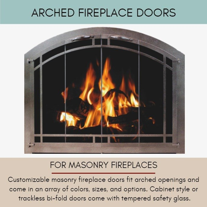 Arched Fireplace Doors for Masonry Fireplaces
