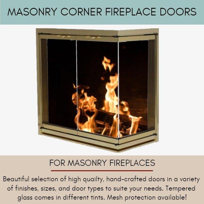 Corner Fireplace Doors For Masonry Fireplaces