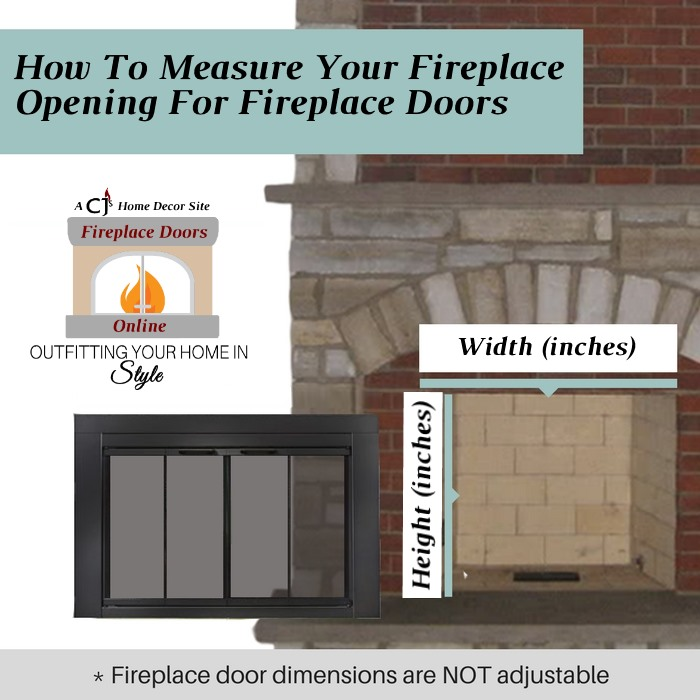 How to measure for fireplace doors