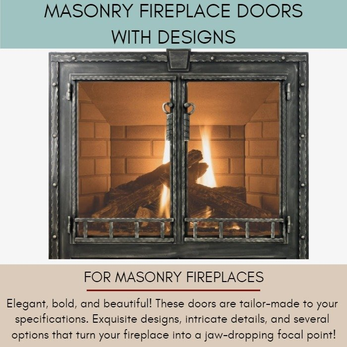 Masonry Fireplace Doors with Designs for Masonry Fireplaces