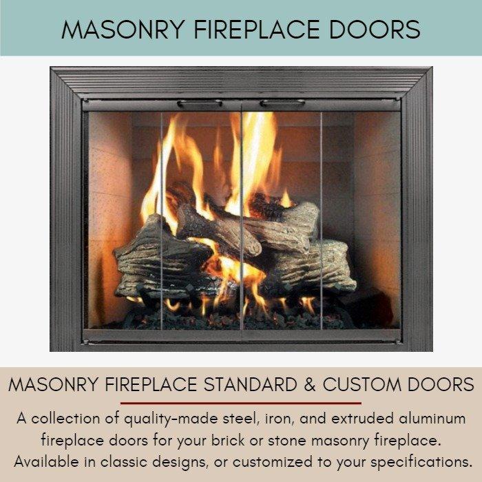 Masonry Fireplace Doors for Masonry Fireplaces