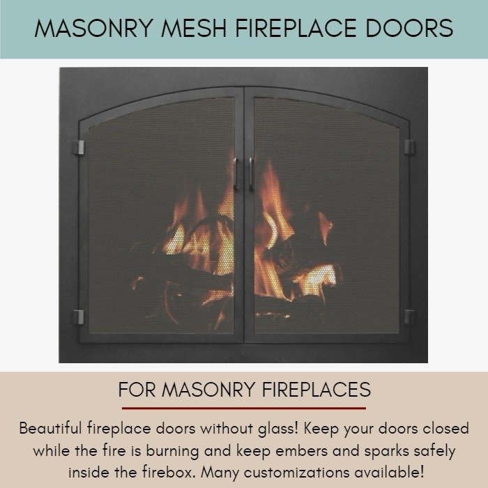Mesh Doors For Masonry Fireplaces
