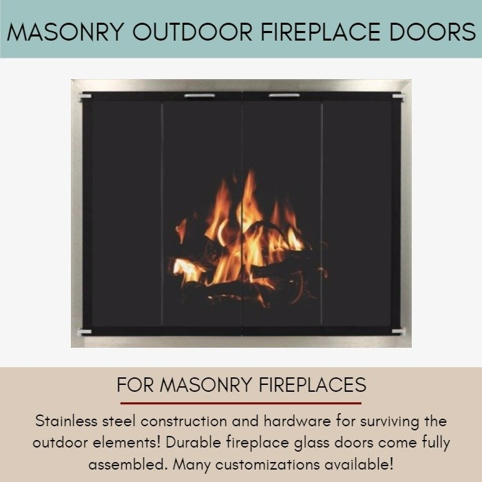 Outdoor Fireplace Doors For Masonry Fireplaces