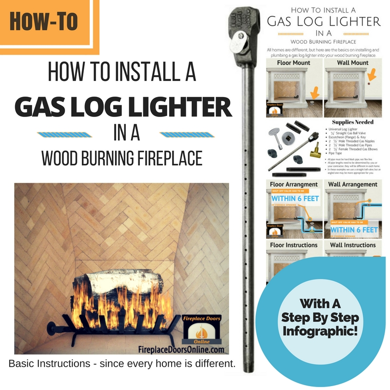 How To Install A Gas Log Lighter In Your Fireplace