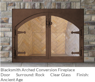 Blacksmith door with Ancient Age finish