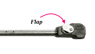 The flap on the side of the log lighter is for mixing a proper ratio of air with natural gas or propane.