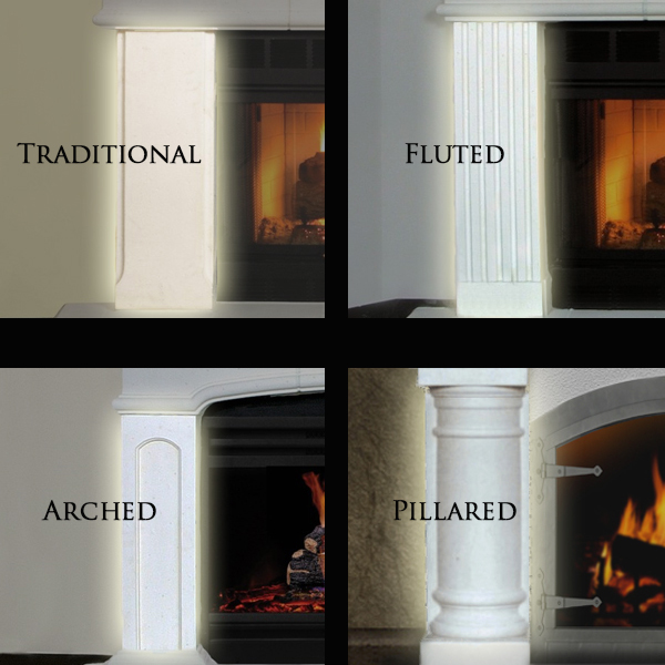 Fireplace Doors Online - Cast Stone Mantel options