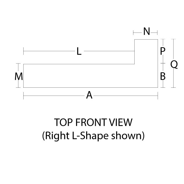 Click on the link to see the diagram for measuring your corner mantel for your corner fireplace.