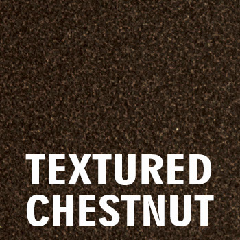 Textured chestnut finish