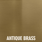 Antique Brass Overlay finish for fireplace doors