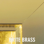 Brite Brass anodized finish for fireplace doors