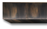 Burnished copper premium powder coat finish for fireplace doors