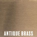 Antique Brass Metallic finish for fireplace doors