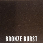 Bronze Burst powder coat finish for fireplace doors