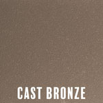 Cast Bronze powder coat finish for fireplace doors