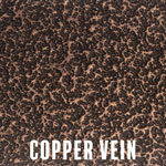 Copper Vein powder coat finish for fireplace doors