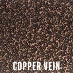 Copper Vein powder coat finish for fireplace doors