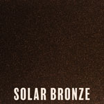 Solar Bronze powder coat finish for fireplace doors