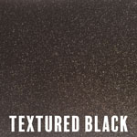 Textured Black powder coat finish for fireplace doors