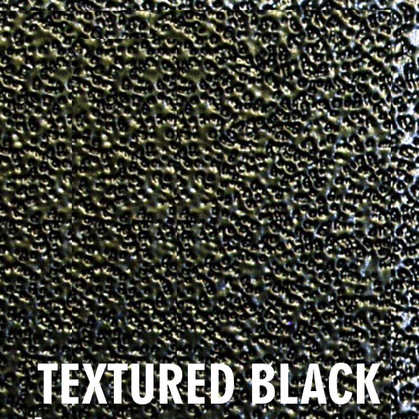 Textured black finish for the Heritage fireplace doors
