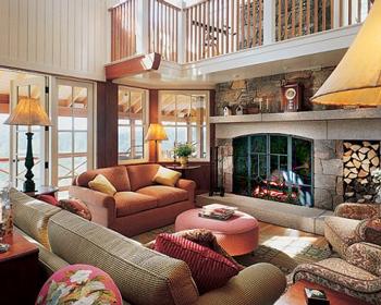 Michael J. Fox's New England classic fireplace.