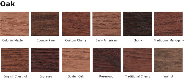 Oak wood stains for entertainment centers
