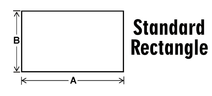 Standard rectangle wood stove replacement glass