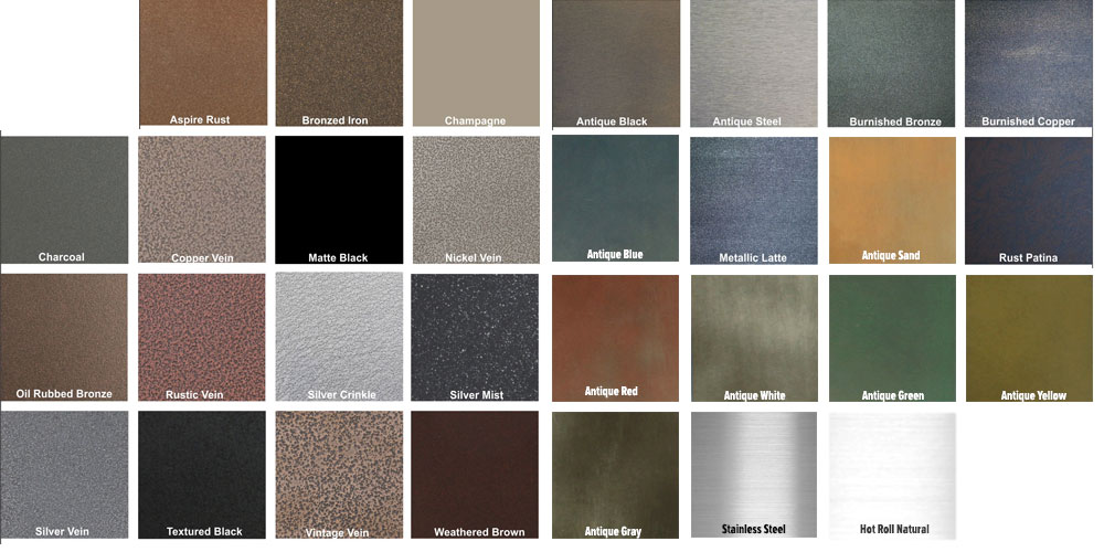 Colors for steel wall panels