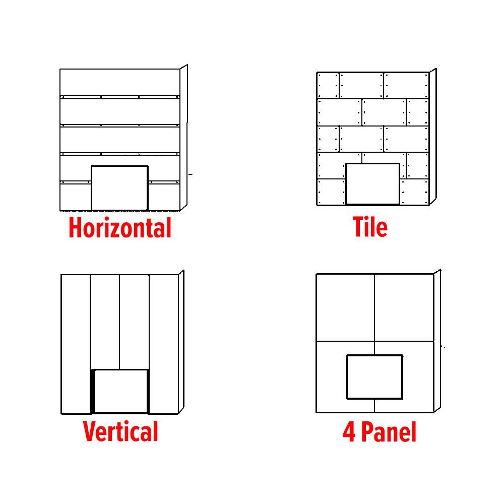 Styles of steel wall panels