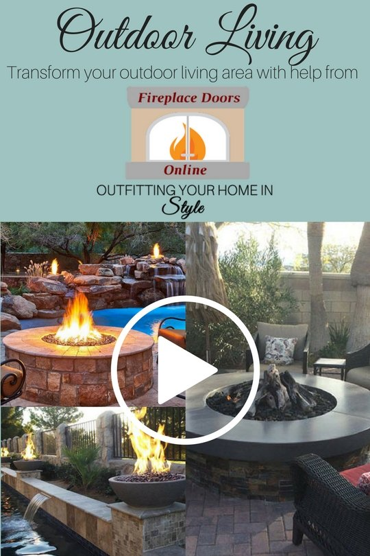 Transform your outdoor living are with help from Fireplace Doors Online! Outfitting your home in style! Watch our You Tube video!