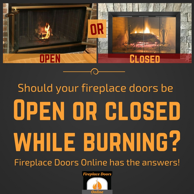 Blog Fireplace Know How Should Your Fireplace Doors Be Open Or Closed While Burning