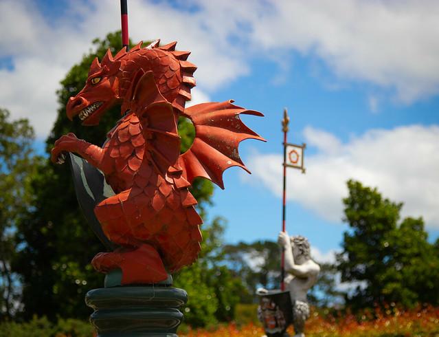 Dragon Firgurehead in Tudor Garden