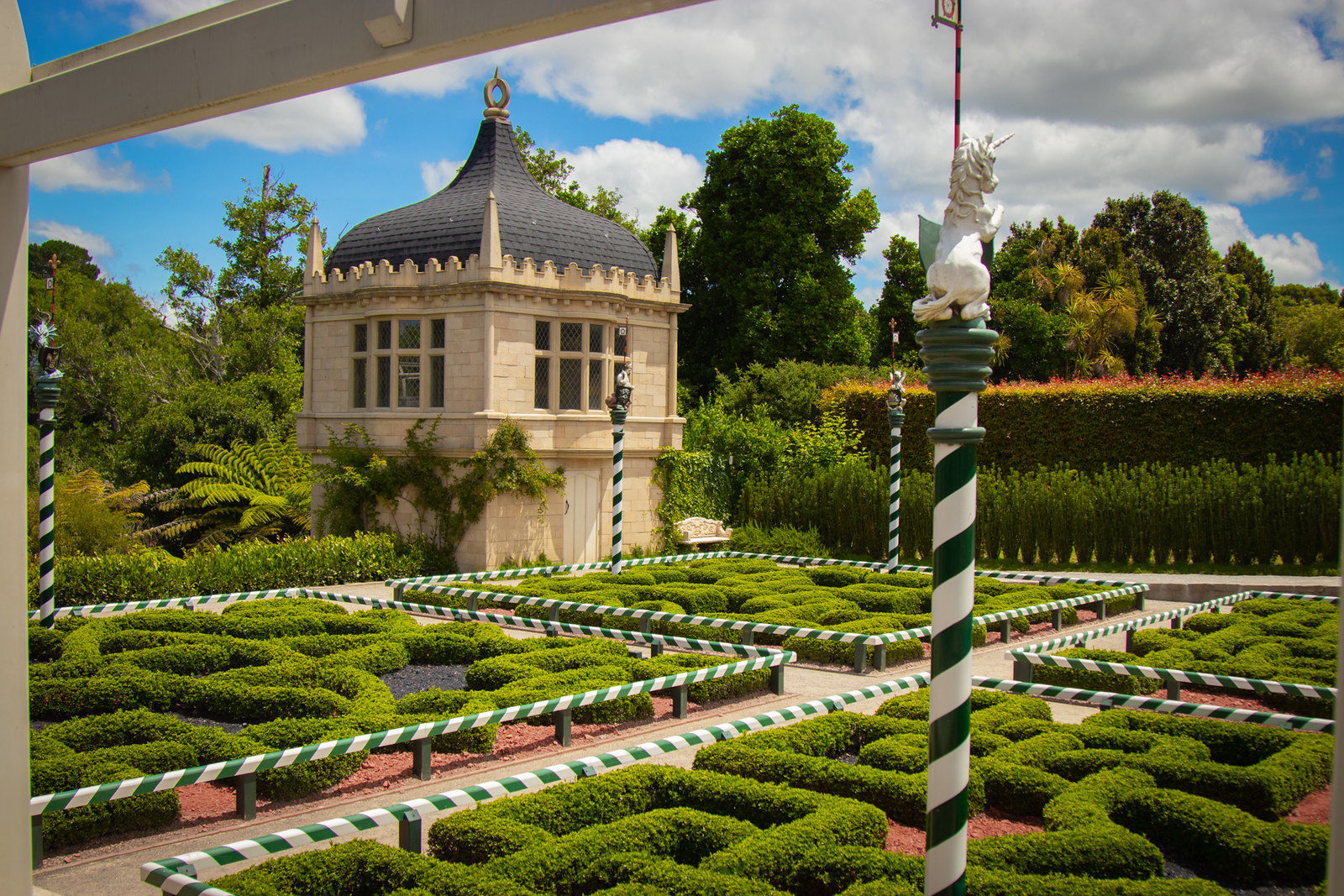 English Tudor styled garden in New Zealand