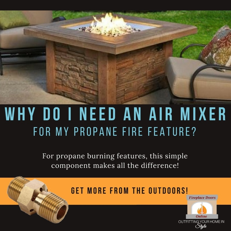 """""""Why do I need an air mixer?"""" featuring the square Sierra fire pit table - 44 inch"""