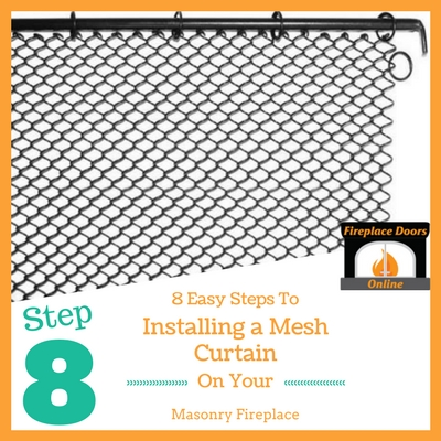 Step 8: Slide your mesh on your rods and through the bracket.
