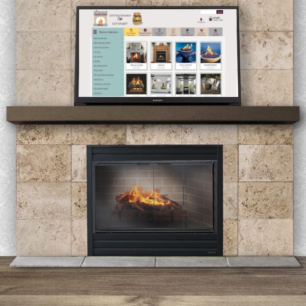 Mounting your tv over your fireplace.