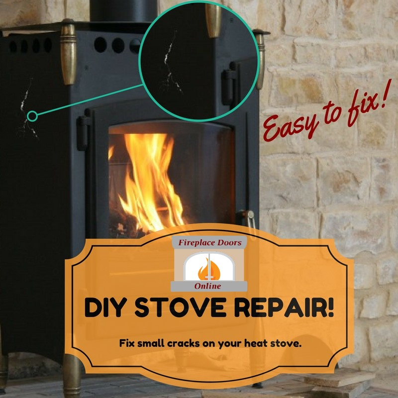 DIY stove repair for small cracks on your heat stove