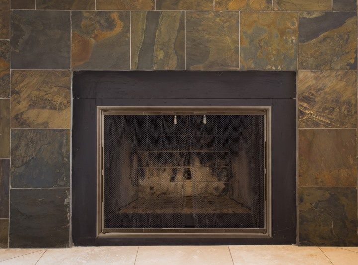 Silhouette ZC Fireplace Door in Venetian Bronze