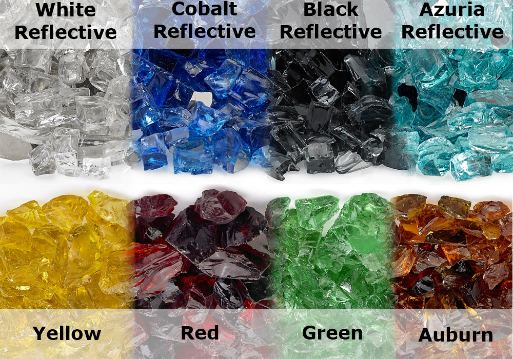 American fireglass glass color choices