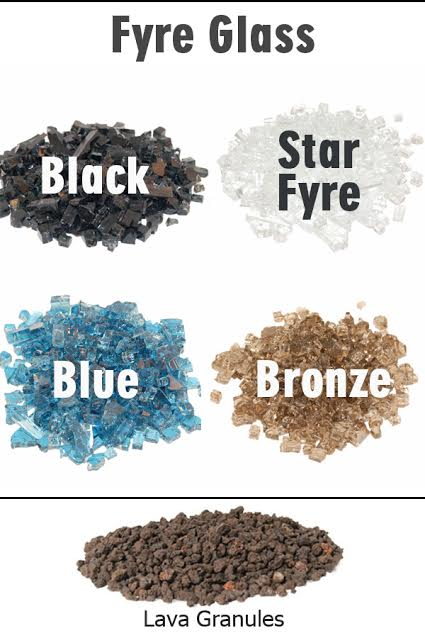 Choose fire glass or lava coals to complete the look for your fire feature!