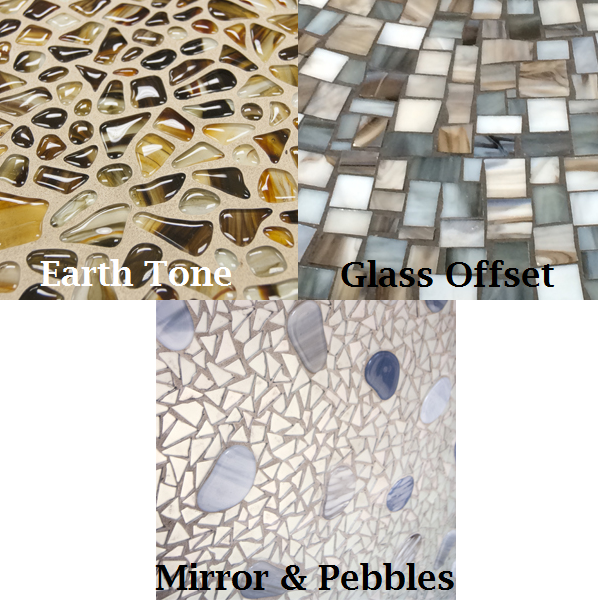 Choose from 3 different Artisan glass backgrounds