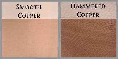 Copper finish options