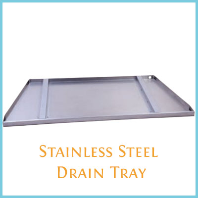 Drain tray option for Carol Rose Outdoor Gas Fireplaces