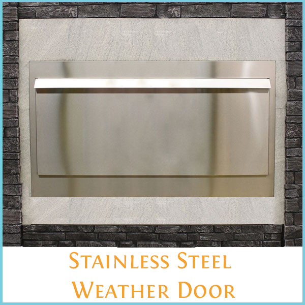 Stainless Steel Weather Door for the 60 Inch Carol Rose Gas Fireplace