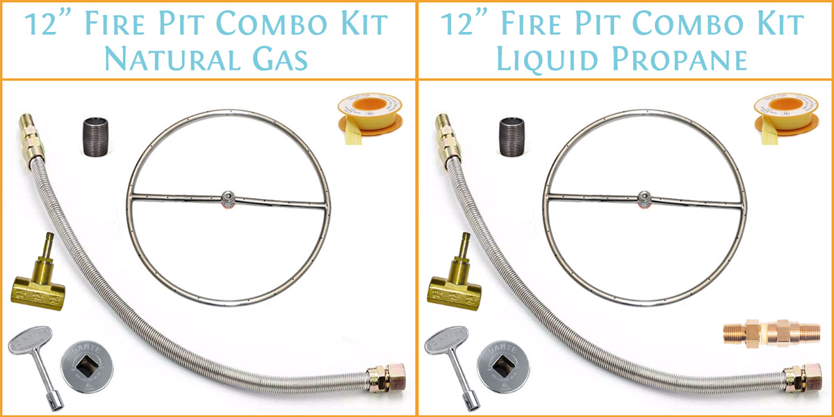 12 Inch Burner Kit shown with NG and LP