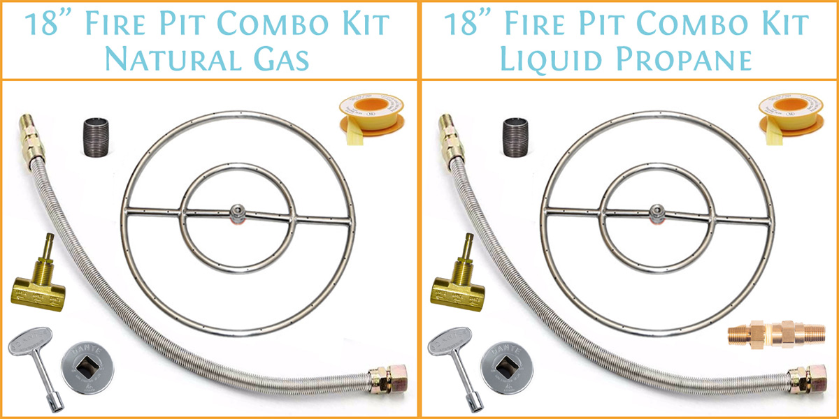 18 inch fire pit ring kit
