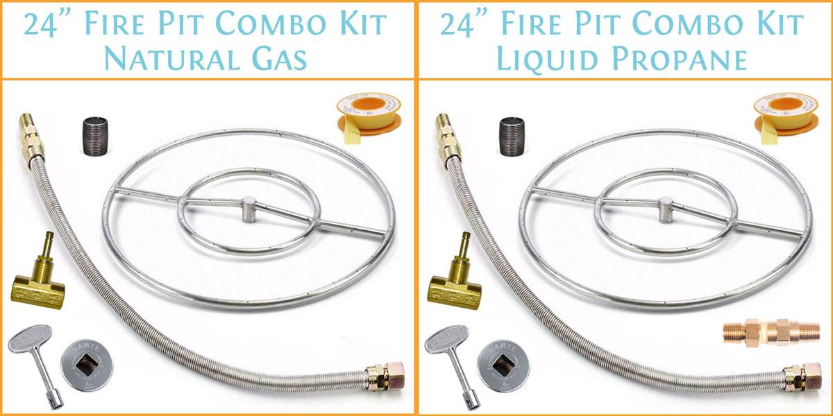 "24"" fire pit ring kit"