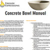 Installation instructions for your concrete bowl