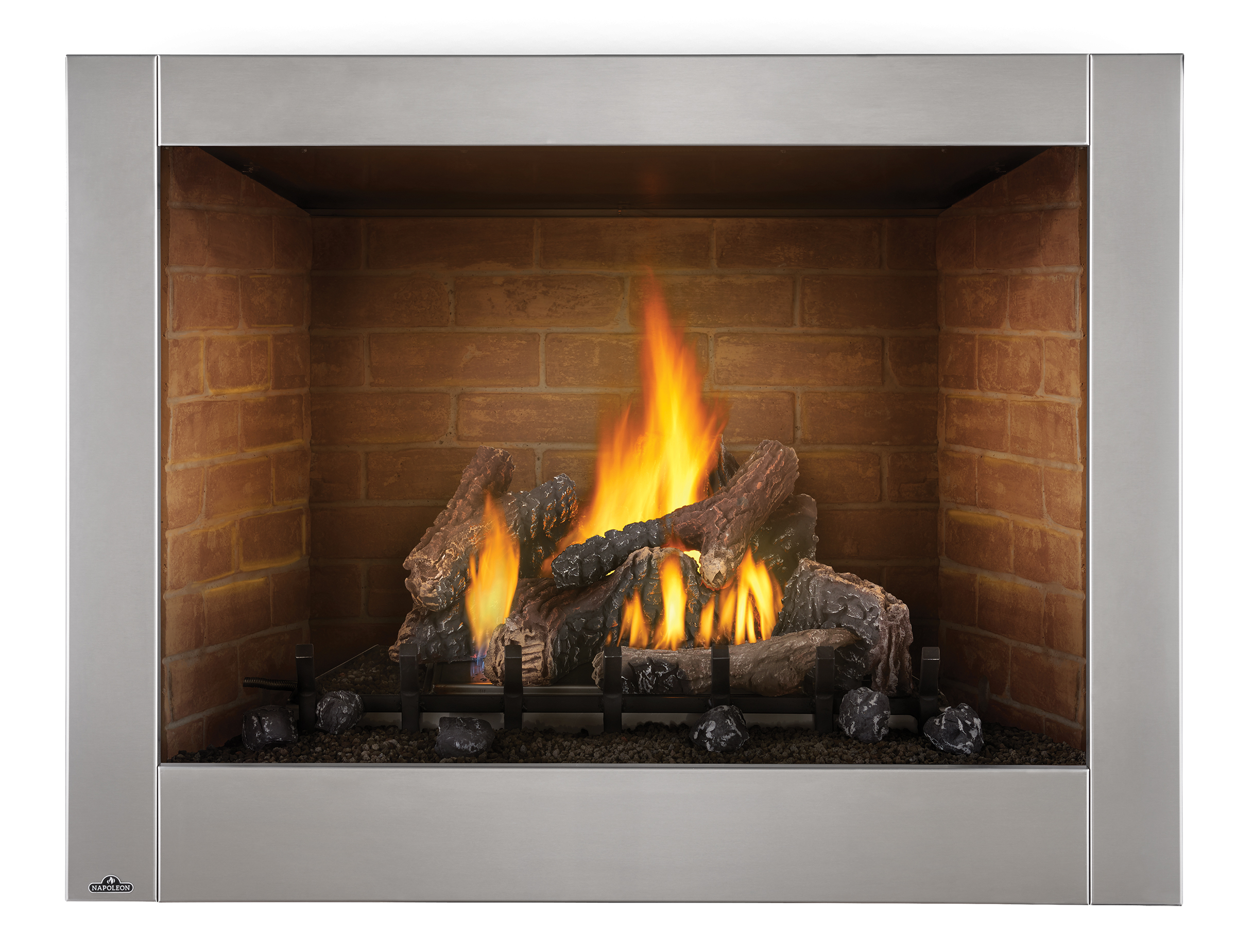 riverside outdoor fireplace gas burning 42 inch. Black Bedroom Furniture Sets. Home Design Ideas